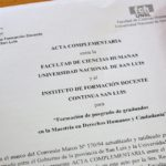 Firma de Acta Complementaria con la Facultad de Ciencias Humanas de la UNSL