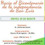 Hacia el Bicentenario de la independencia de San Luis